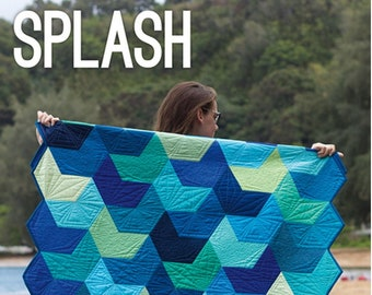 Splash Quilt Sewing Pattern - PAPER PATTERN - Designed by Jaybird Quilts