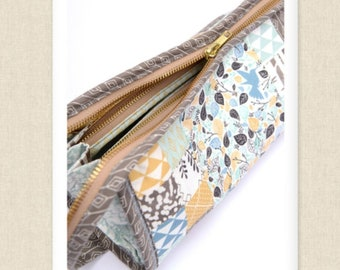 Sew Together Bag Sewing Pattern by Sew Demented - PAPER PATTERN - Zippered Clutch Tutorial