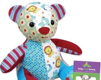 Melody Memory Bear - PAPER PATTERN - Make a memory bear to remember a cherished loved one!