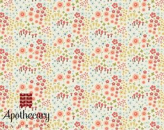 Riley Blake Woodland Spring Wild Flowers Cream - DESIGNER FABRIC - Sold by the 1/2 Yard