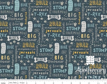 Fossil Rim 2 Words Navy Riley Blake Designs - JERSEY KNIT - Sold by the 1/2 Yard