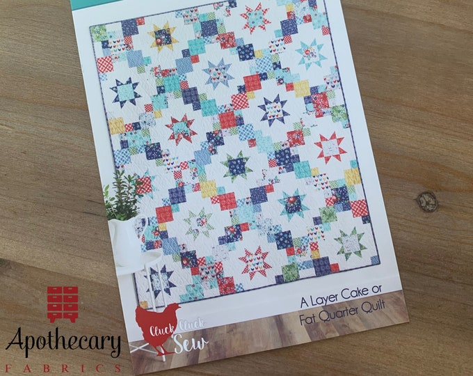 Brightly Quilt Pattern - PAPER PATTERN - Designed by Cluck Cluck Sew