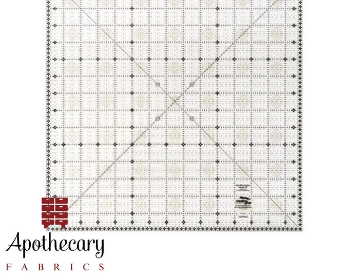 Creative Grids Itty-Bitty Eights Square XL - 15in x 15in Quilt Ruler - Made in the USA