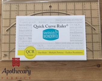 Quick Curve Ruler - Designed by Sew Kind of Wonderful - Cut Curves Easily with this Quilting Ruler