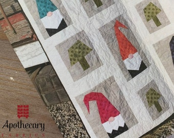 A Tale of Two Gnomes Quilt Pattern - PAPER PATTERN - Cotton Street Commons