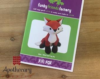 Fifi Fox Memory Stuffed Animal Sewing Pattern - PAPER PATTERN - Stuffie tutorial - Plush Animal Pattern