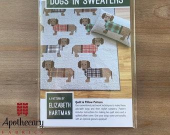 Dogs in Sweaters Quilt Pattern - PAPER PATTERN - Elizabeth Hartman