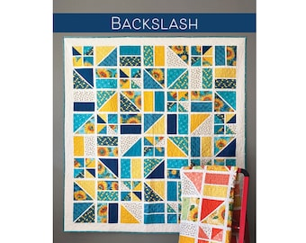 Backslash Quilt Sewing Pattern - PAPER PATTERN - Designed by Robin Pickens