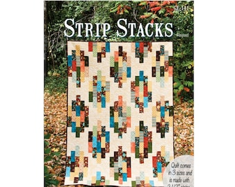 Strip Stacks Quilt Sewing Pattern - PAPER PATTERN - Designed by GE Designs
