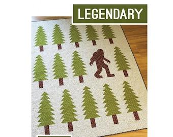Legendary Bigfoot Quilt Sewing Pattern - PAPER PATTERN - Designed by Elizabeth Hartman