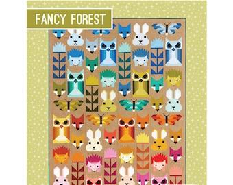 Fancy Forest Quilt Sewing Pattern - PAPER PATTERN - Designed by Elizabeth Hartman