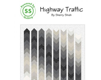 Highway Traffic Quilt Sewing Pattern - PAPER PATTERN - Designed by Sherry Shish