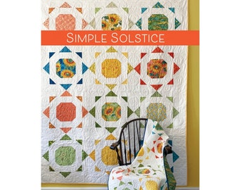 Simple Solstice Quilt Sewing Pattern - PAPER PATTERN - Designed by Robin Pickens