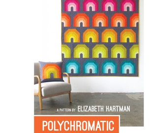 Polychromatic Quilt Sewing Pattern - PAPER PATTERN - Designed by Elizabeth Hartman
