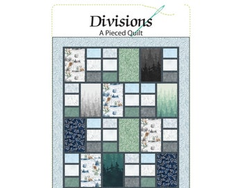 Divisions Quilt Tutorial - PAPER PATTERN - Designed by Quilting Renditions