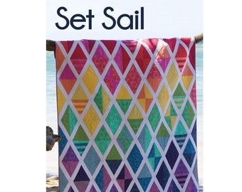 Set Sail Quilt Sewing Pattern - PAPER PATTERN - Designed by Jaybird Quilts - Fat Quarter Friendly!