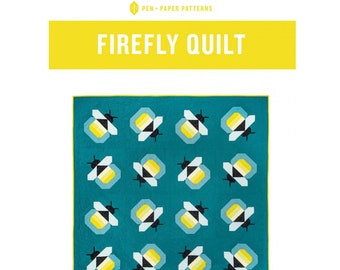 Firefly (or Bee) Quilt Sewing Pattern - PAPER PATTERN - Designed by Pen & Paper Patterns
