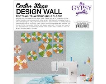 Quilt Block Design Wall - Center Stage Grey Felt Designing Background