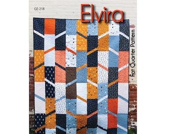 Elvira Quilt Pattern - PAPER PATTERN - Designed by GE Designs