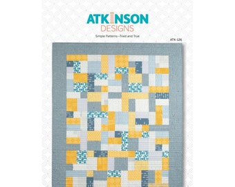 Yellow Brick Road Quilt Pattern - PAPER PATTERN - Perfect for beginners & jelly rolls or rollie pollies