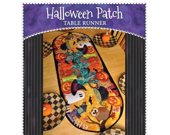 Halloween Patch Table Runner Sewing Pattern by Shabby Fabrics - PAPER PATTERN