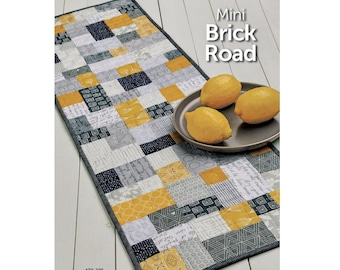 Mini Brick Road Table Top Pattern - PAPER PATTERN - Created by Atkinson Designs