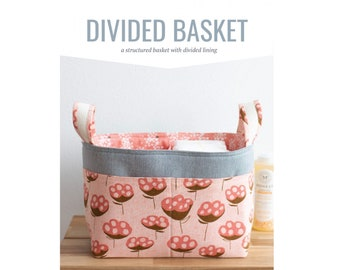 Divided Basket Sewing Pattern by Noodlehead - PAPER PATTERN - Basket with Handles and Pockets