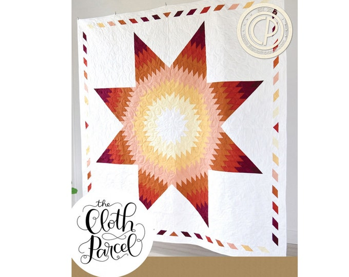 Vina's Star Quilt Sewing Pattern - PAPER PATTERN - Designed by the Cloth Parcel