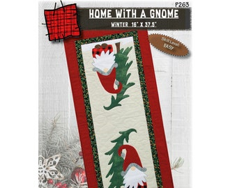 Home with a Gnome Table Runner - PAPER PATTERN - By Patch Abilities