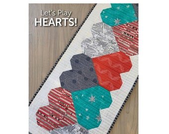 Let's Play Hearts Sewing Pattern - PAPER PATTERN - Designed by Atkinson Designs