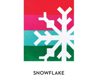 Snowflake Quilt Pattern - PAPER PATTERN - Christmas Quilting and Sewing Supplies