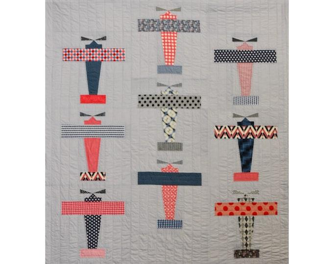Flypast Quilt Pattern - PAPER PATTERN - Designed by Louise Papas