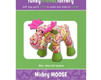 Mickey Moose Stuffie Pattern - PAPER PATTERN - Make a memory animal to remember a cherished loved one!