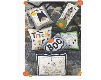 Little Halloween Pillows #235 by Bareroots - PAPER PATTERN - Create your own Halloween decor!