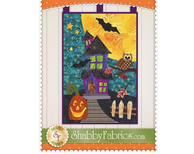 Halloween Patch Wall Hanging by Shabby Fabrics - PAPER PATTERN - Create your own holiday decor!