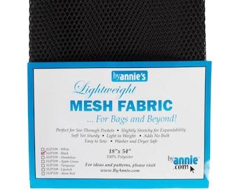 "Mesh Fabric - Lightweight - CHOOSE COLOR - 18"" x 54"""