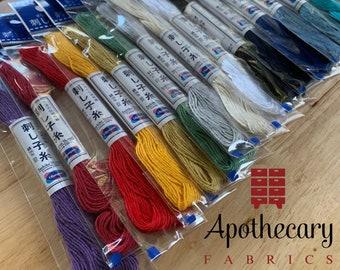 Sashiko Thread by Olympus - CHOOSE COLOR - 22 yard skein - Made in Japan