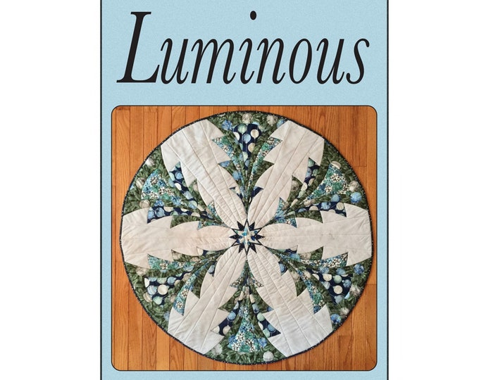 Luminous Table Topper or Tree Skirt Quilt Pattern - PAPER PATTERN - Designed by Quilted Garden Designs