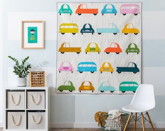 Cool Cars Quilt - PAPER PATTERN - Sew Kind of Wonderful
