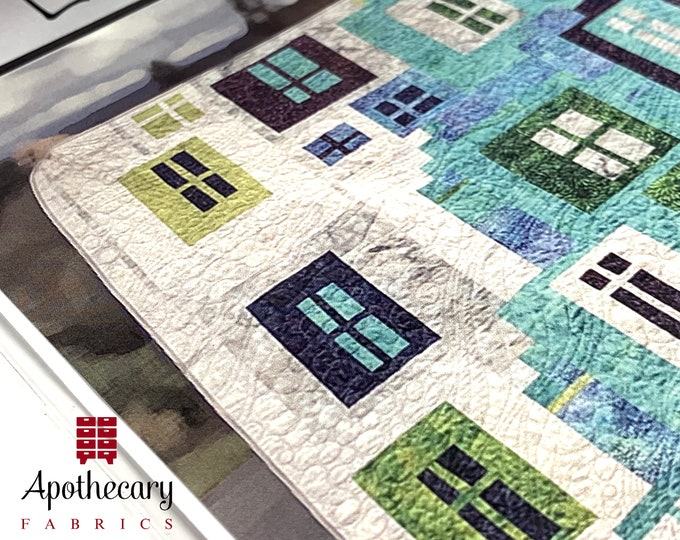 Longview Quilt Pattern - PAPER PATTERN - Free Form Quilting Tutorial
