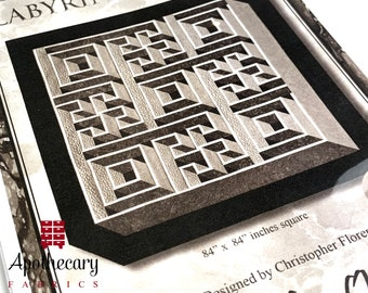 Labyrinth Walk by Guilty Quilter - PAPER PATTERN - Maze Quilt Tutorial