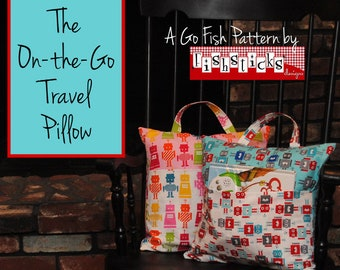 On The Go Travel Pillow - PAPER PATTERN - Sewing Tutorial