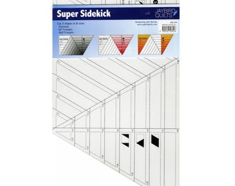 Super Sidekick Ruler by Jaybird Quilts - Cut Diamonds, Triangles and Half Triangles