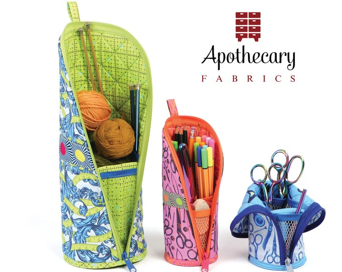 Flipping Out Sewing Pattern by Annie - PAPER PATTERN - Zippered Cases Convert to Sturdy Stands