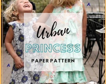 Urban Princess Girl and Doll Dress - PAPER PATTERN - Designed by Olive Ann Designs