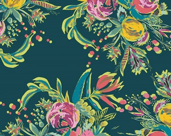 Coquet Bouquet Joie de Vivre Cotton Woven Fabric - ART GALLERY - Sold by the 1/2 Yard