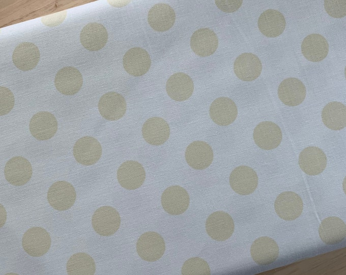 Riley Blake Cotton Woven Quilting and Apparel Fabric - Medium Dot Tone on Tone Cream - Sold by the 1/2 Yard