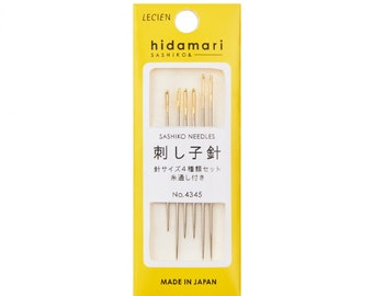 Cosmo Hidamari Sashiko Assorted Needle Set - Made in Japan