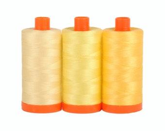 Sicily Yellow - Color Builder 3pc Thread Set - Aurifil USA