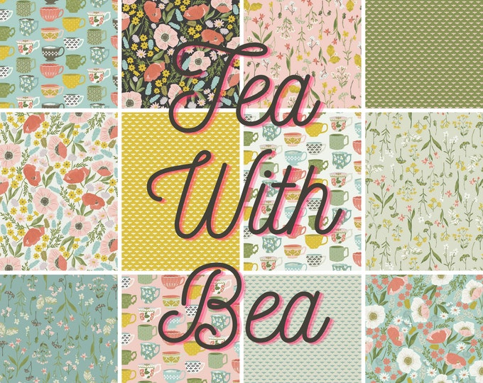 Featured listing image: Tea With Bea Fabric - PICK & CHOOSE - Riley Blake Designs - Sold by the 1/2 Yard